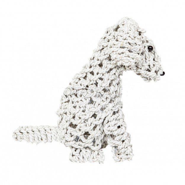 Статуэтка из ротанга Собака плетеная