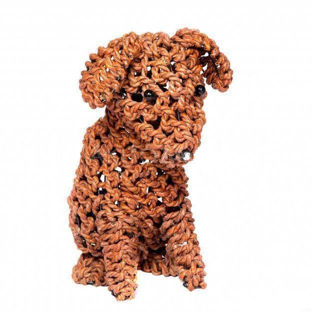 Фигура из ротанга Собака плетеная