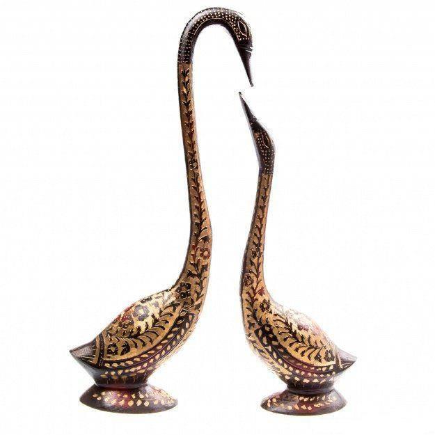 Фигуры из латуни Лебеди 39, 30 см. (2 шт.)