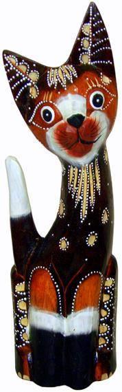 """Фигурка из дерева """"Кошечка Венера"""" 35см."""