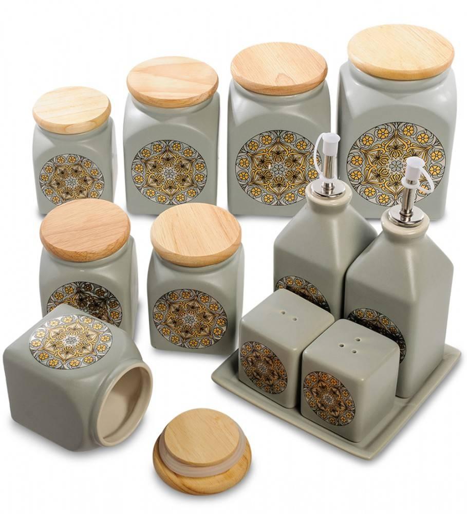 Набор керамических банок для чая