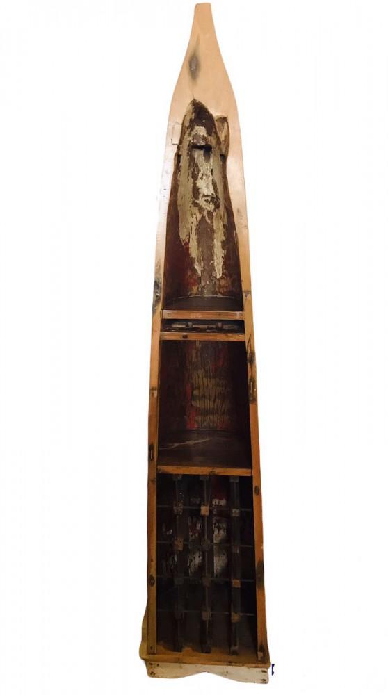 Индонезийская лодка из тика 218х38х37 см - единственный экземпляр