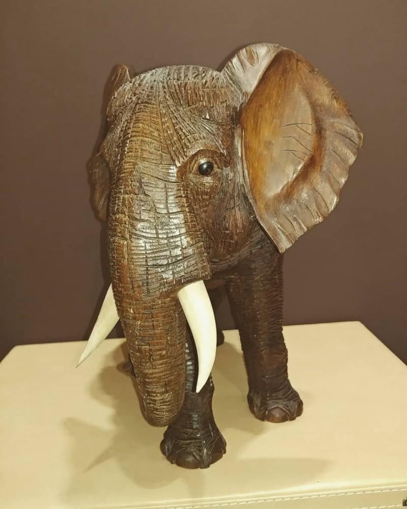фигура слона интерьерная 35 см