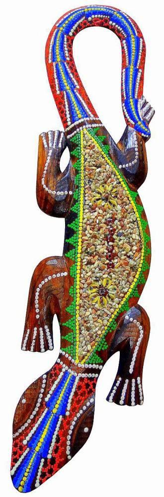 Декор панно-геккон, 50см.