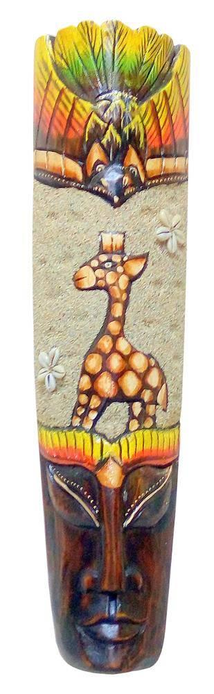 """Маска из дерева """"Жираф""""  50см."""