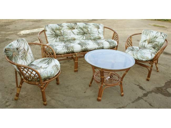 """Мебель из ротанга """"ИНДО-Багамы"""" с 3-х местным диваном"""