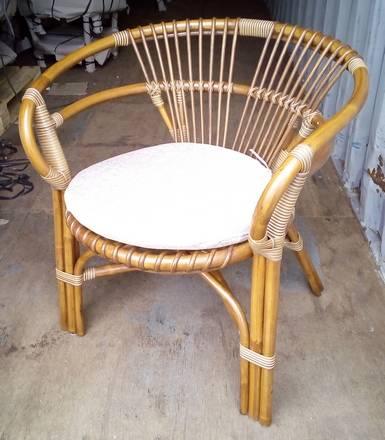 Кресло Вирджиния из светлого ротанга