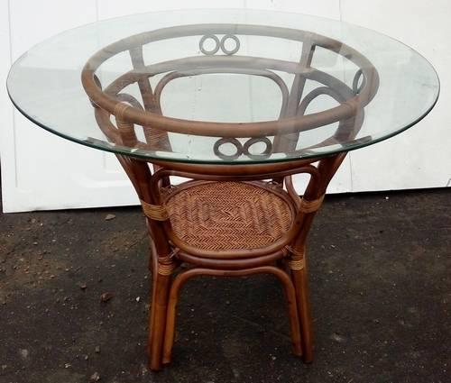 Стол обеденный Дакота со стеклянной столешницей