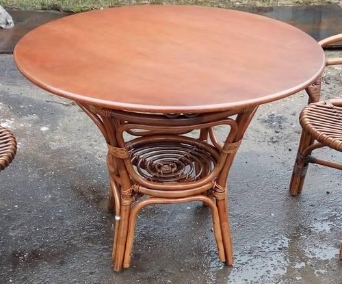 Стол обеденный Вирджиния с деревянной столешницей
