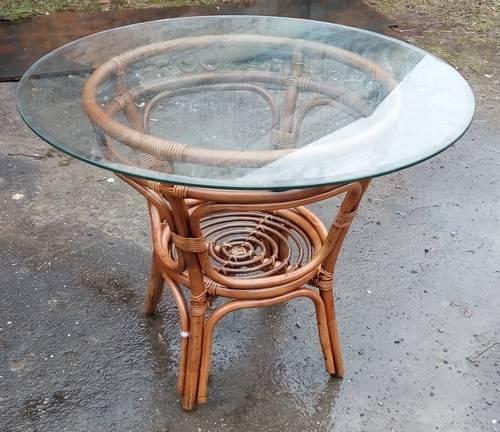 Стол обеденный Вирджиния со стеклянной столешницей