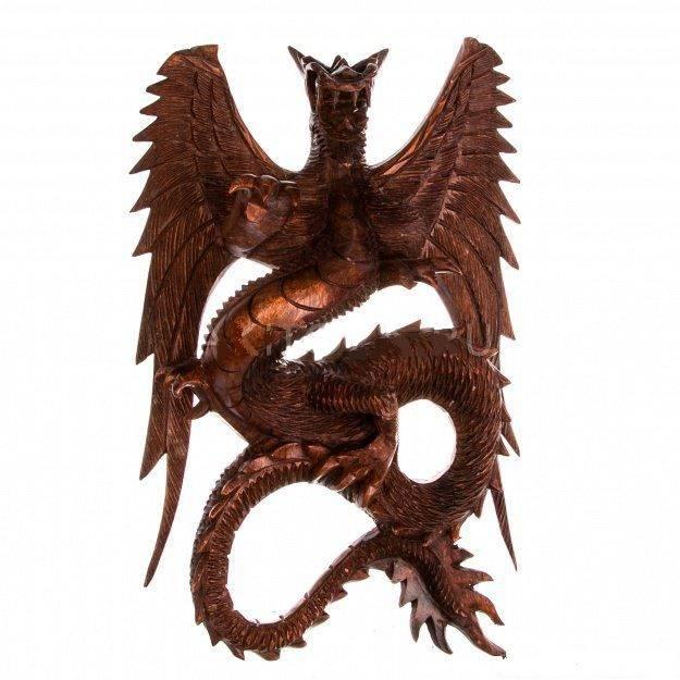 Панно Дракон 30 см подвесной