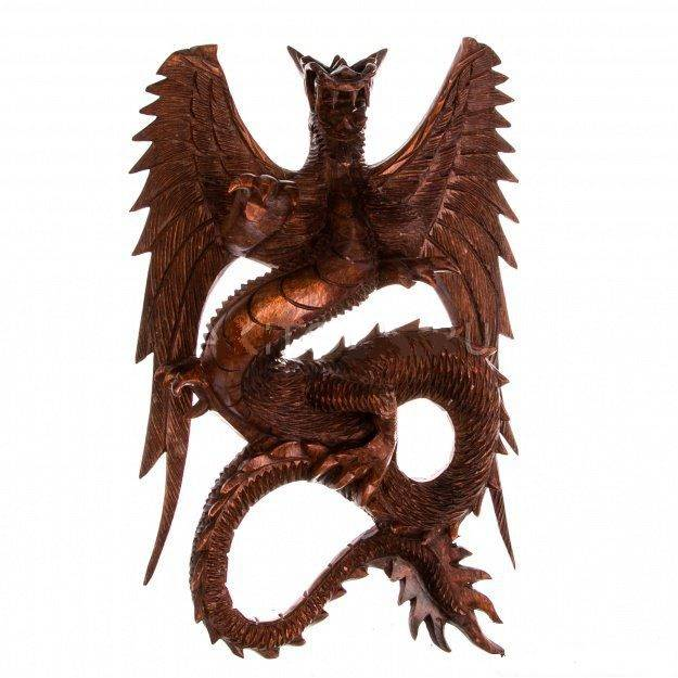 Фигура Дракон 40 см подвесной (дерево суар)