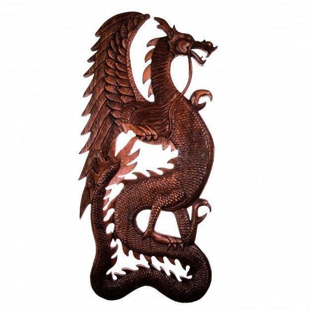 Панно настенное Дракон 80 см плоский