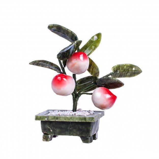 Дерево счастья из камня Персик 15 см. (3 шт.)