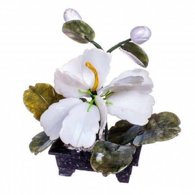 Цветок счастья из камня 15 см.