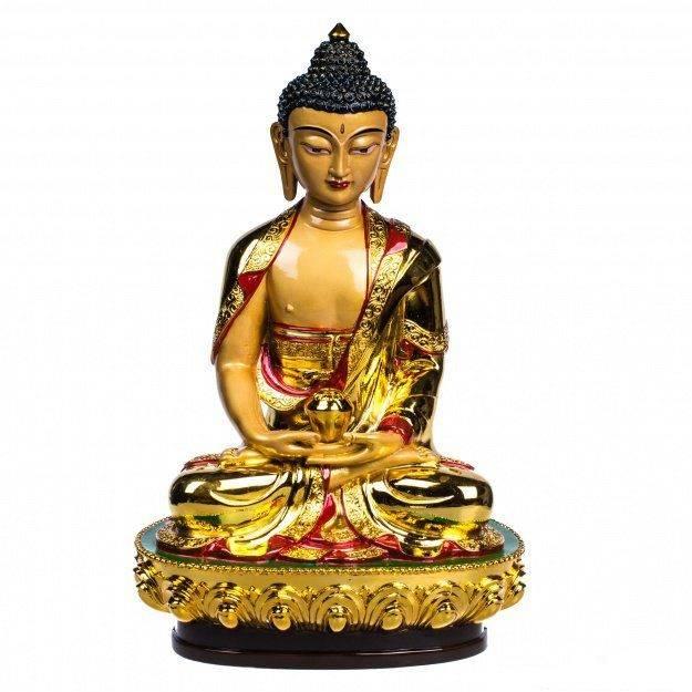 Фигура Будда золотой 30 см. (гипсолит)