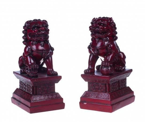 Фигуры Собакчи Фу (набор 2 шт.) красные