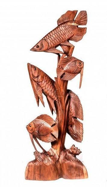 Фигура из дерева Рыбы Арована 100 см