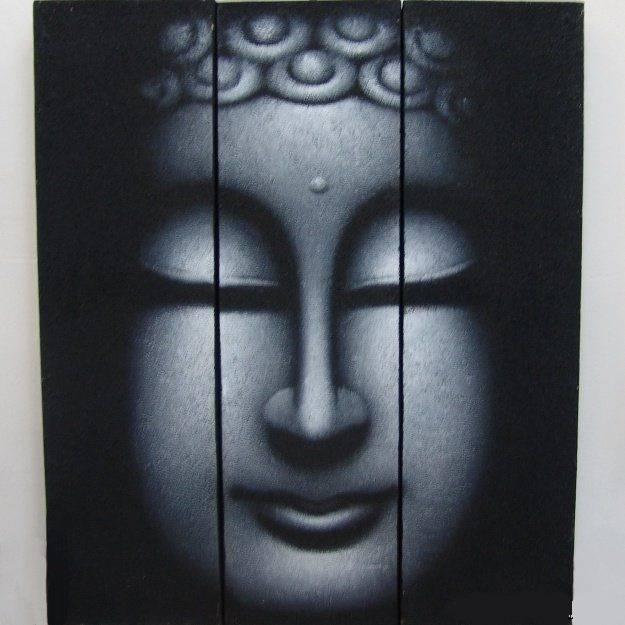 Картина из трёх сегментов 50х60 см Будда
