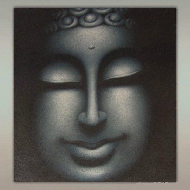 Картина 60х80 см лики Будды холст, масло