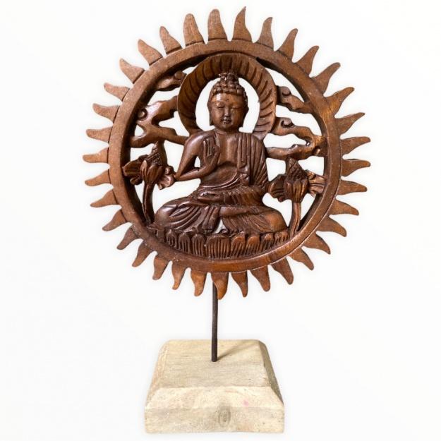 Панно на подставке Лик Будды 20 см (дерево)