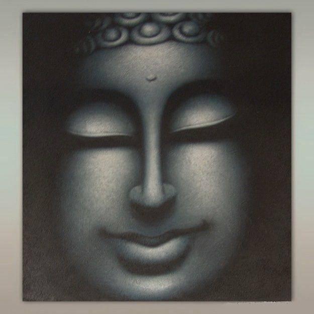 Картина с изображением Будды 70х90 см (холст, масло)