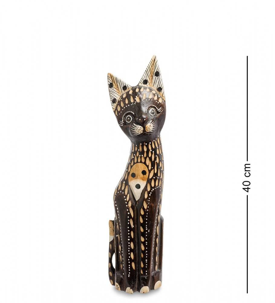 """Статуэтка """"Кошка Дасти"""" 40 см (албезия, о.Бали)"""