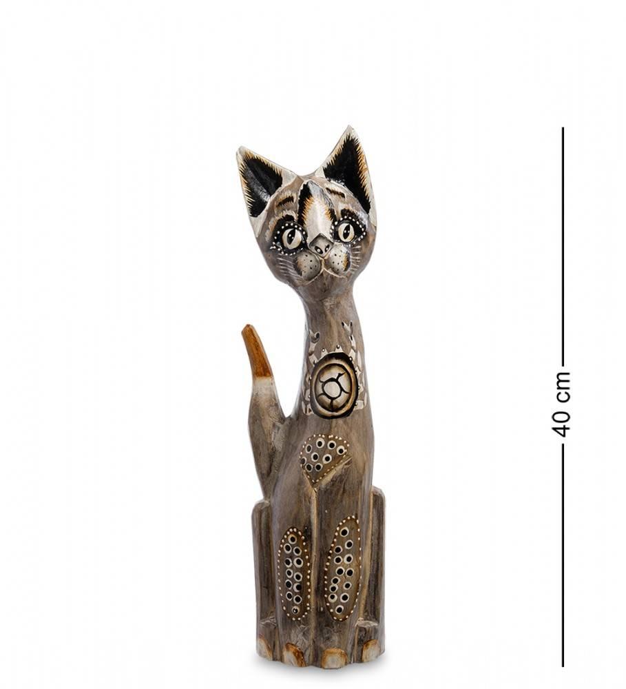 """Статуэтка """"Кошка Зинга"""" 40 см (албезия, о.Бали)"""