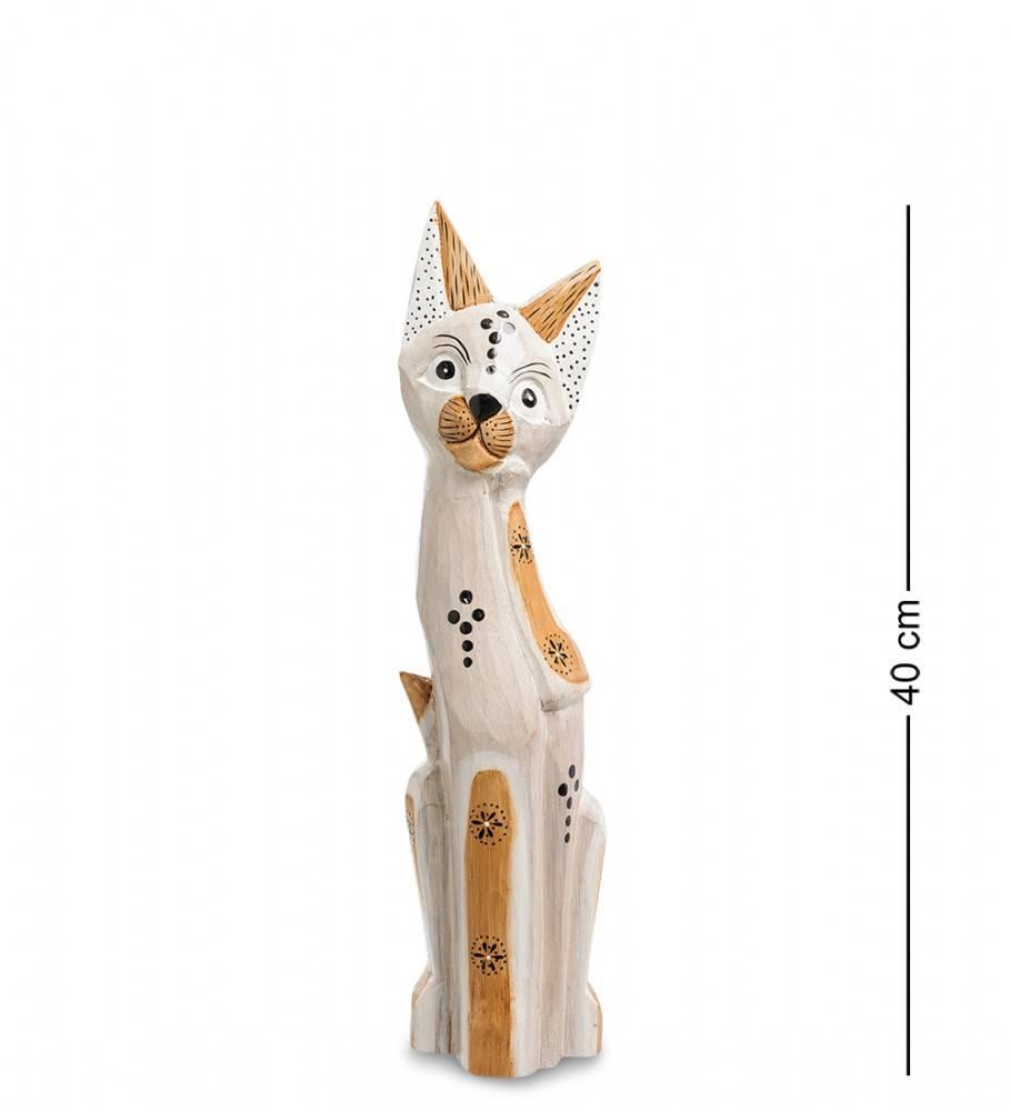 """Статуэтка """"Кошка Пушинка"""" 40 см (албезия, о.Бали)"""