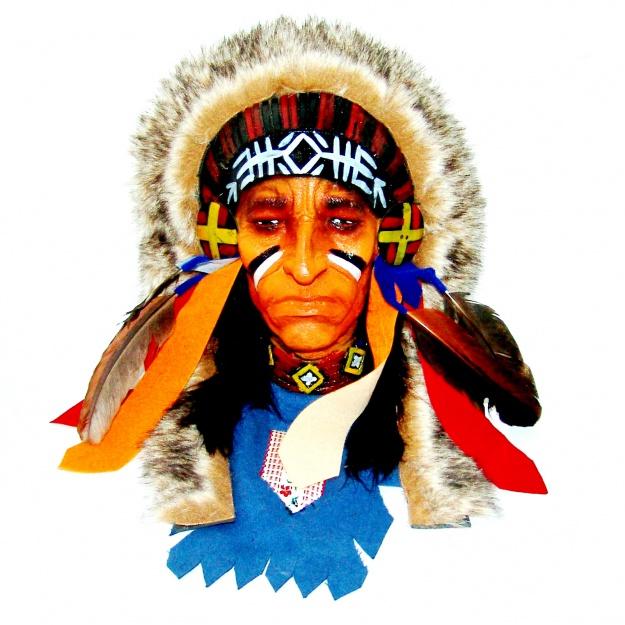 Маска племенной Индеец 20 см.