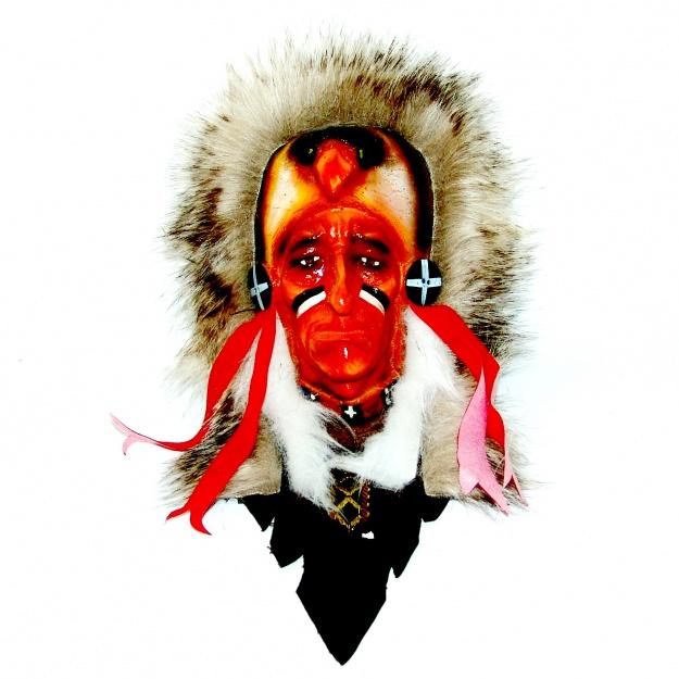 Маска племенного индейца 25 см.