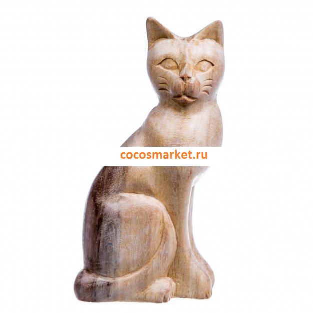 Небольшая фигурка из дерева Кошка Трилли 15 см (дерево соно)