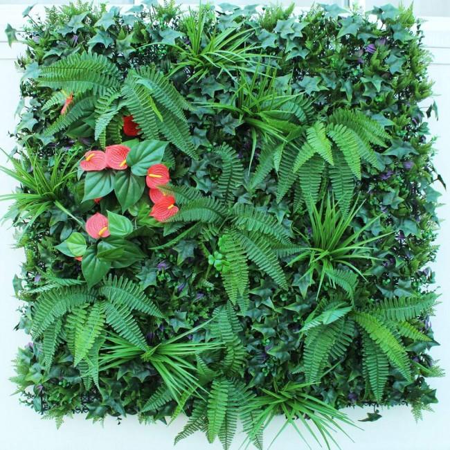 Искусственная изгородь с Антуриум 100х100 см