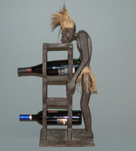 Подставка для 3-х бутылок с фигурой Асмата