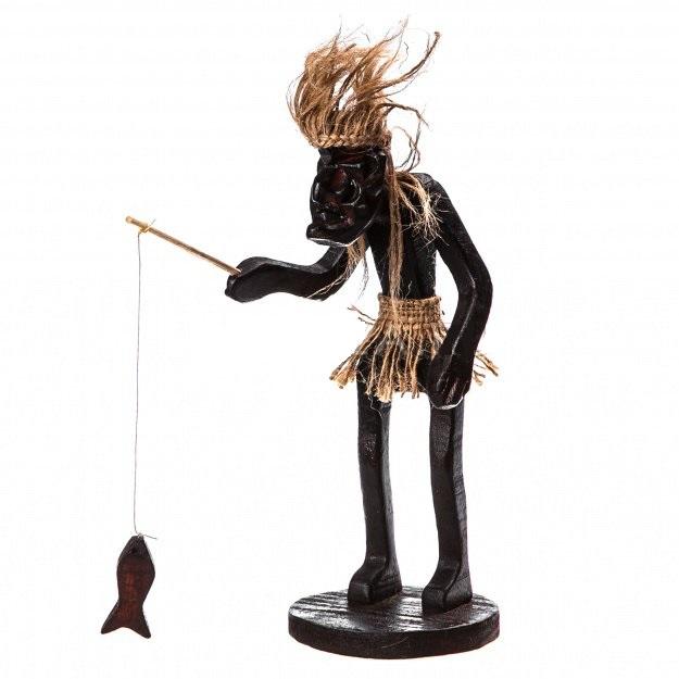 Фигурка аборигена Асмат-Рыбак 21 см
