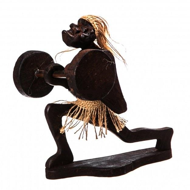 Фигурка аборигена Штангист 20 см.