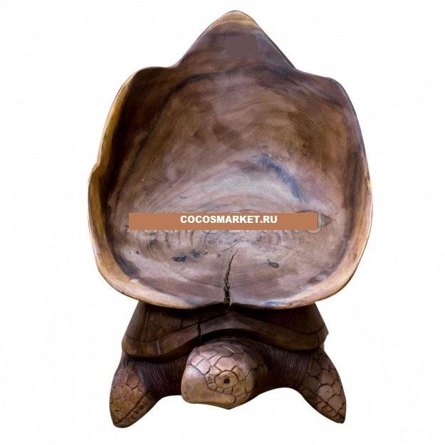 Стул из дерева Черепаха 80 см
