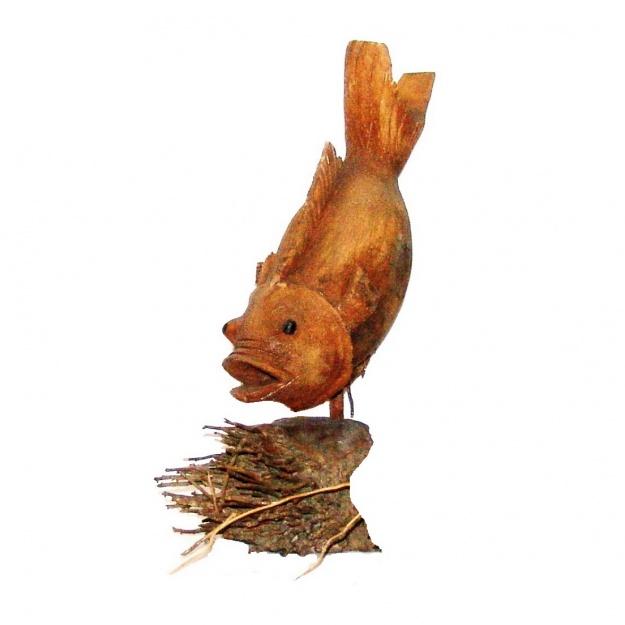 Фигура Рыбка 45см (корень бамбука)