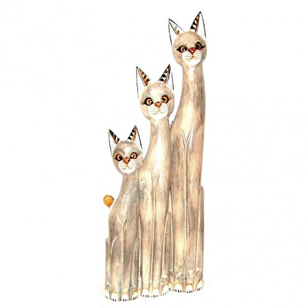 Набор фигурок кошек 100, 80, 60 см