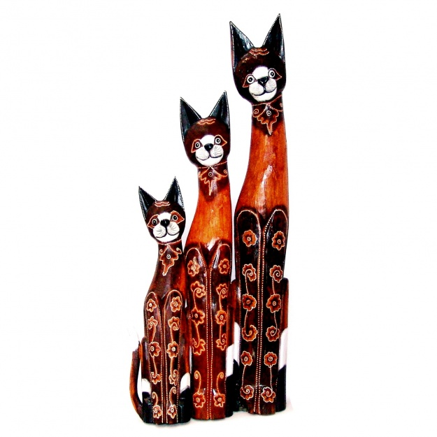Набор статуэток кошек 100, 80, 60 см