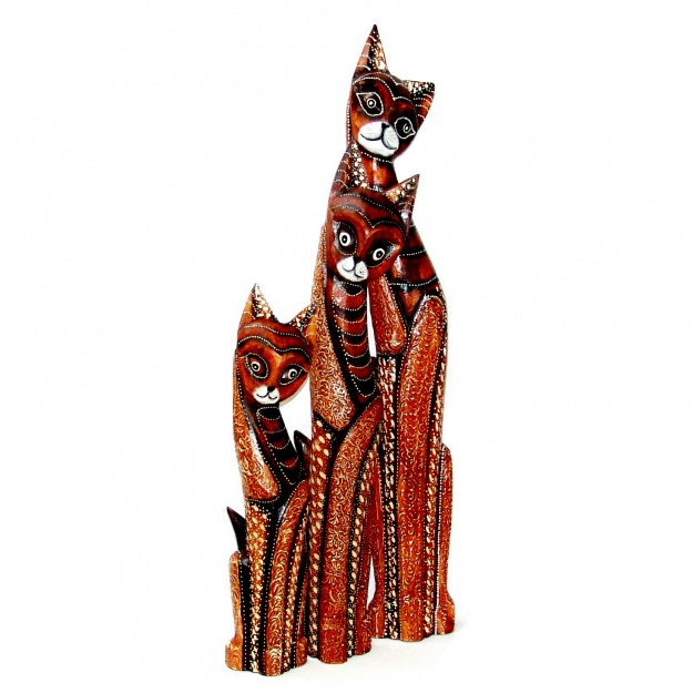 Комплект фигурок кошек 100, 80, 60 см