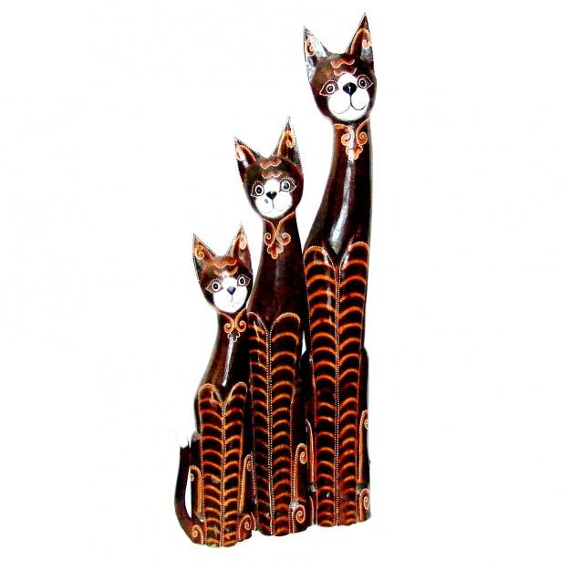 Комплект из фигурок кошек 100, 80, 60 см