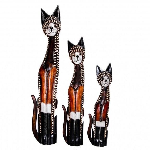 Статуэтки трех кошек 100, 80, 60 см