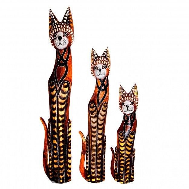 Набор из трех статуэток кошек 100, 80, 60 см