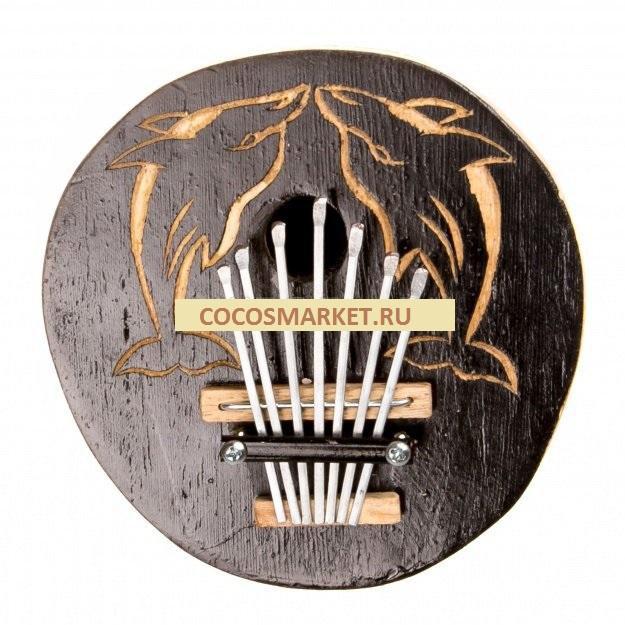 Музыкальный инструмент Каримба 14 см. (кокос)