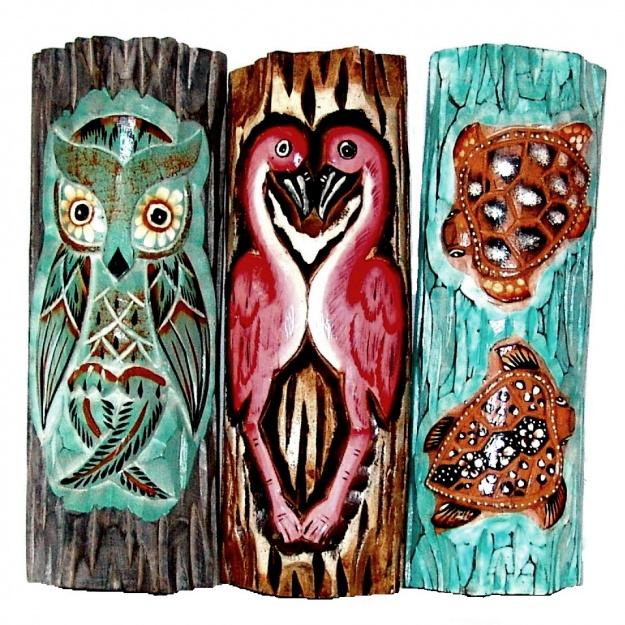 Тотемные настенные маски из дерева  30 см.