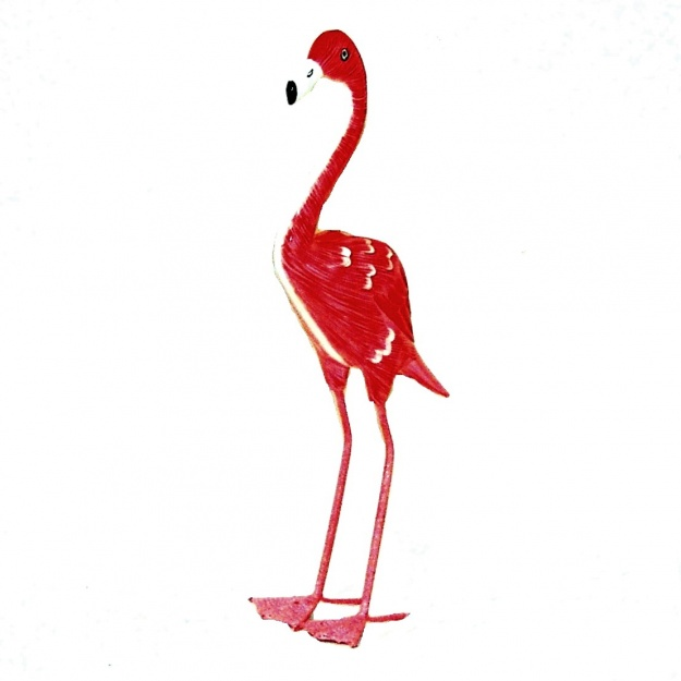 Символ семейности Птица фламинго 35 см
