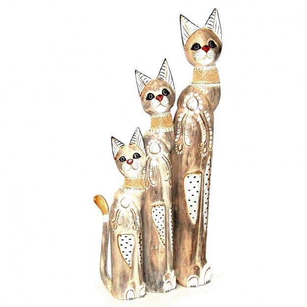 Фигурки Кошки красавицы - 3 шт 100,80,60 см