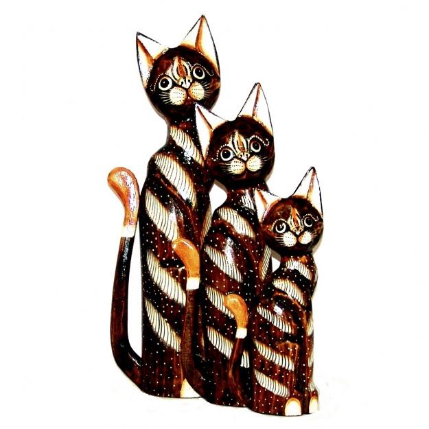 Набор статуэток Коты полосатые 30,40,50 см