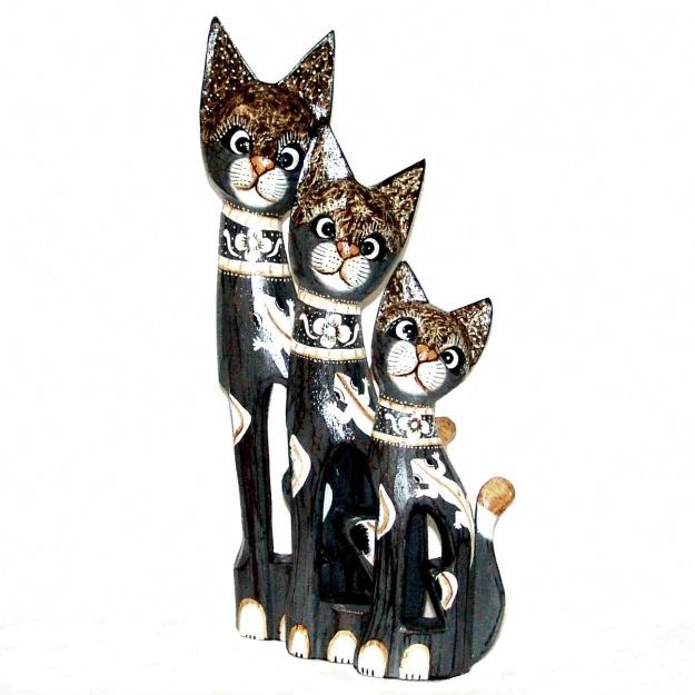 Набор статуэток котов с ящеркой 30,40,50 см